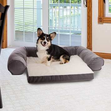 Paus Bolster Couch Pet Bed, Grey
