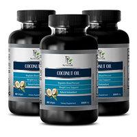 Burn fat fast pills - COCONUT OIL - Extra virgin coconut oil supplement - 3 Bottles 180 Softgels