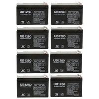 UB1280 F2 12V 8Ah APC SmartUPS 1400RM 2200RM3U Battery - 8 Pack