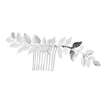Prettyia Silver Leaves Hair Comb Clip Hair Accessory Bridal Wedding Girl Lady Slides