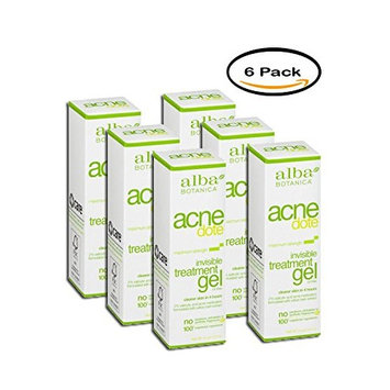 Pack of 6 - Alba Botanica Natural Acnedote Invisible Treatment Gel, 0.5 oz