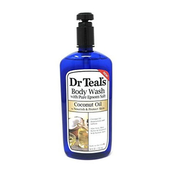 Dr Teal's Body Wash with Pure Epsom Salt Coconut Oil Nourish & Protect Skin - 24 FL OZ/710ml