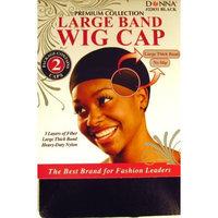 Donna Karan Black Large Band Wig Cap []