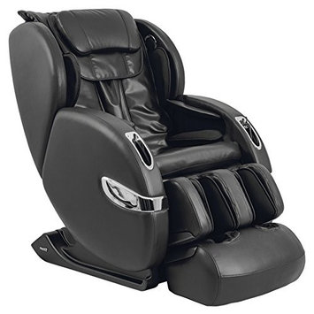 Titan TP-Lucas A L-Track Massage Chair with Zero Gravity, Black, Foot Rollers, Computer Body Scan, Air Massage, 7 Auto Massage Programs, Bluetooth Connection for Speaker, Extendable Footrest