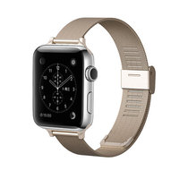 Stainless Steel Mesh Magnetic & Adjustable Band For Apple Watch ( 38mm & 42mm )
