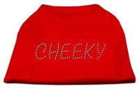 Mirage Pet Products 5218 XLRD Cheeky Rhinestone Shirt Red XL 16