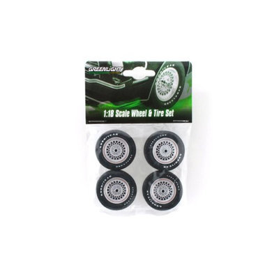 Greenlight 12883 Ford Mustang II King Cobra Wheels & Tires Set for 1-18 Scale Models