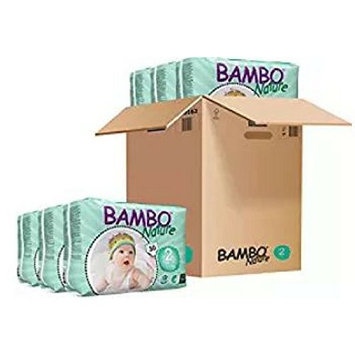 Bambo Nature Baby Diapers Classic (Size 2, count 180, Pack of 1)