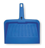 TOUGH GUY 2VEY3 Hand Held Dust Pan, Plastic,12 In. W,Blue