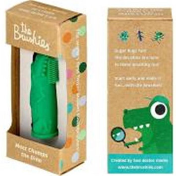 The Brushies BBC111 Baby & Toddler Finger Toothbrush Chomps the Dino