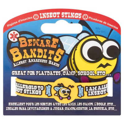 Beware Bandits Insect Stings Allergy Alert Wristband