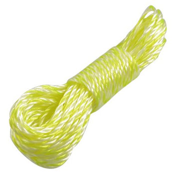Unique Bargains 30.8Ft Nylon Household Multipurpose Nonslip Hanging Clothing Clothesline Rope Yellow White