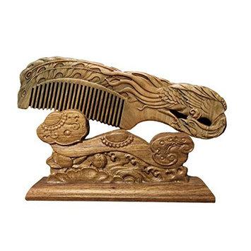 ICEGREY Sandalwood Wooden Comb Hair Brush Rake Comb Dancing Phoneix