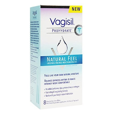 Vagisil ProHydrate Natural Feel Internal Moisturizing Gel 8 ea (Pack of 2)
