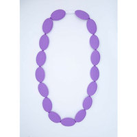 Purple Oval Silicone Teething Necklace for Moms and Teething and Nursing Babies BPA Free Chewable Teething Beads 3402