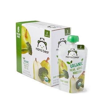 Amazon Brand - Mama Bear Organic Baby Food, Stage 2, Pear Apple Broccoli, 4 Ounce Pouch
