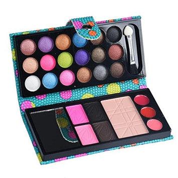 Eyeshadow,Baomabao 26 Colors Makeup Eyeshadow Blush Palette Cosmetic Lip Gloss Powder Blue