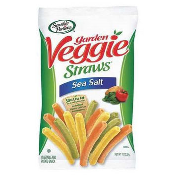 Sensible Portions Veggie Straws, Sea Salt, 1 oz Bag