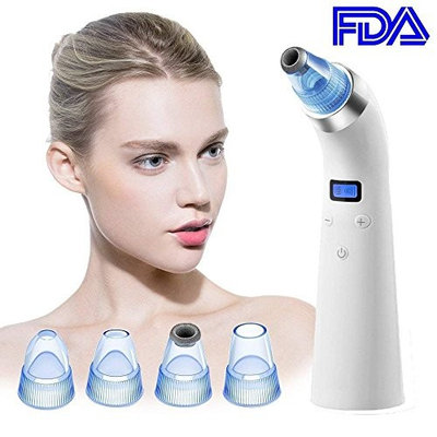 Acne Suction Blackhead Removal [2018 UPGRADED USA] The Original Pore Vacuum Acne Treatment Pore Cleaner Skin Care USB By Vettern Best Acne Treatment for Adults - Limited