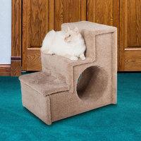 Paus Carpeted 3-Step Pet Stairs, Brown