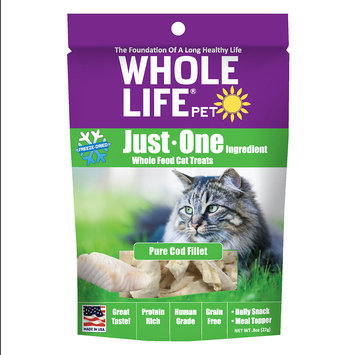 Whole Life Pet Single Ingredient USA Freeze Dried Cod Filet Treats for Cats, .8-Ounce