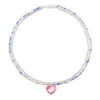 Heart Charm Beaded Necklace