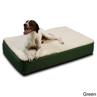 Snoozer Super Ortho Lounger Dog Bed Large/ Green/Creme Top