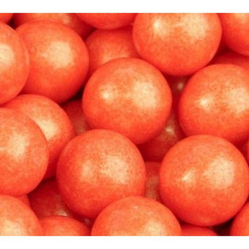 Shimmer Pearlescent Orange 1 Inch Gumballs 1LB Bag