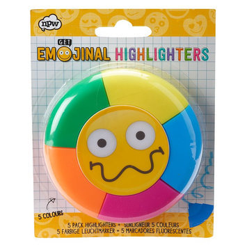 Emoji Highlighters, Pack of 5