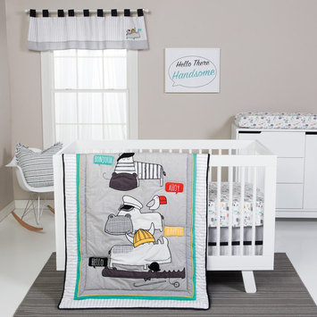 Trend Lab Hello Collection 4 Piece Crib Bedding Set