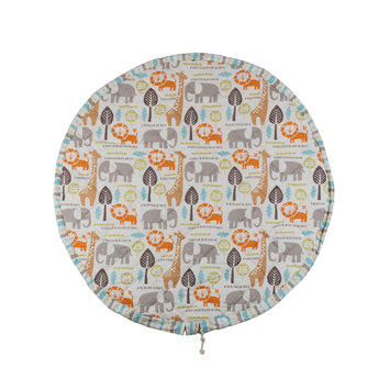 Poppi Living Quilted Round Play Mat, Multicolor