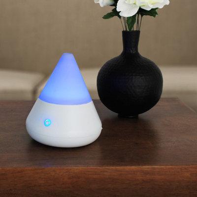 Kiera Grace Cone LED Ultrasonic Diffuser, White