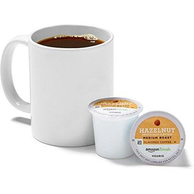 AmazonFresh 80 Ct. Coffee K-Cups, Hazelnut Flavored Medium Roast, Keurig Brewer Compatible [Hazelnut]