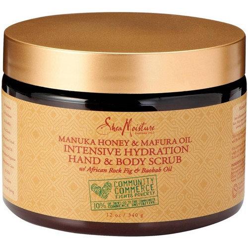Shea Moisture Intensive Hydration Hand & Body Scrub, Manuka Honey & Mafura Oil 12 oz