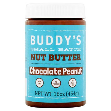 Kinchies Llc Buddys Nut Butters, Peanut Butter Chocolate, 16 Oz (Pack Of 6)