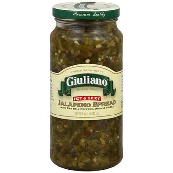 Giuliano Hot & Spicy Jalapeno Spread With Red Bell Peppers, 16 oz (Pack of 6)