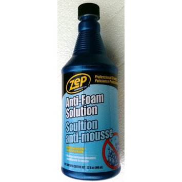 ZEP Professional Strength ANTI-FOAM Carpet & Upholstery Extraction Steam Cleaning Machine Cleaner HIGHLY CONCENTRATED Solution 32 oz.