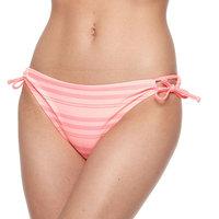 Mix and Match Side-Tie Scoop Bikini Bottoms, Size: Large, Dark Pink