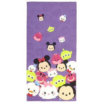 Disney Tsum Tsum Totes Adorbs Printed Beach Towel, Purple