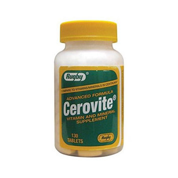 Rugby McKesson Cerovite Vitamin and Mineral Supplement Tablets, 130 ct