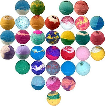 Wholesale Bath Bombs 60 Pack Large 4.5 Oz Made In U.S.A Spa lush ultra fizzy bath fizzie bulk pack for resale