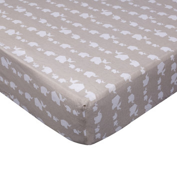 Living Textiles Fitted Crib Sheet, Grey One Size