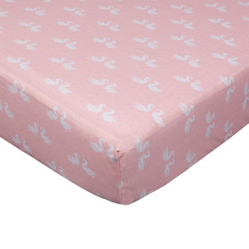 Living Textiles Fitted Crib Sheet, Pink One Size