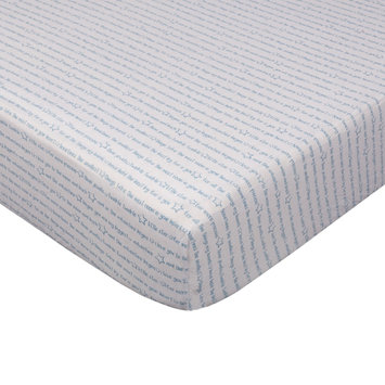 Living Textiles Fitted Crib Sheet, Blue One Size