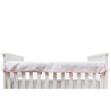 Living Textiles Diamond Matelasse Crib Railing Cover, White