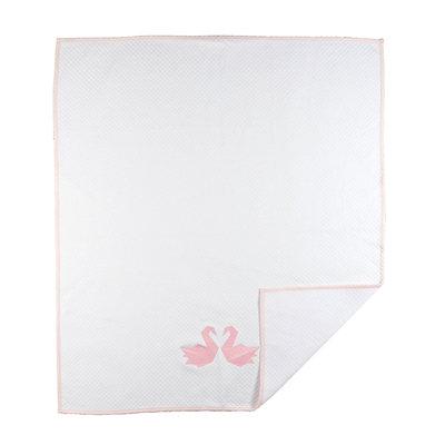 Livingtextilesbaby Paper Swans Diamond Matelasse Coverlet