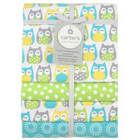 Triboro Quilt Co. Carter's 4 Pack Flannel Grey Owl Print Receiving Blanket