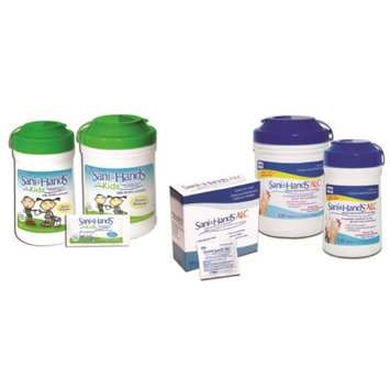 Professional Disposables Sani-Hands Sanitizing Skin Wipe - P15984CN - 220 Wipes / Canister