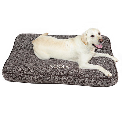 Drs. Foster And Smith Doctors Foster + Smith Personalized Ultimate Classic Brown Paisley Dog Bed, 36