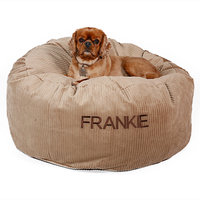 Drs. Foster And Smith Doctors Foster + Smith Personalized Deluxe Warm & Cuddly Slumber Ball Buff Dog Bed, 26
